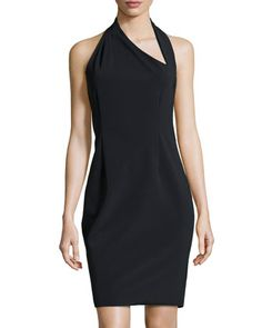 Asymmetric Halter Dress, Black by Halston Heritage at Neiman Marcus.