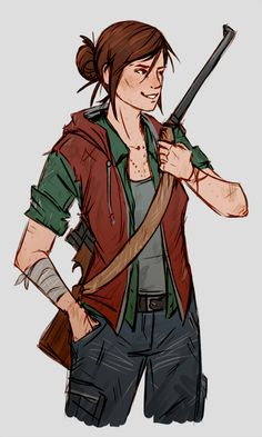 Adult Ellie from the Last of Us