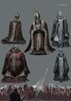 View an image titled 'Deacons of the Deep Art' in our Dark Souls III art gallery featuring official character designs, concept art, and promo pictures. Fantasy Concept Art, Fantasy Character Design, Dark Fantasy, Character Inspiration, Conquest Of Mythodea, Soul Saga, Dark Souls Art, Deep Art, Monster Design