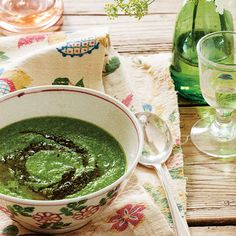 Sophie Dahl's pea, pesto and rocket soup recipe. For the full recipe, click the picture or visit RedOnline.co.uk