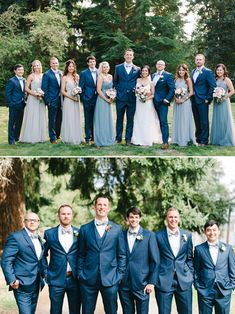 Beautiful Easy Going Wedding blue wedding party attire and other ideas wedding chicks Blue Suit Wedding, Blue Bridal, Purple Wedding, Wedding Colors, Wedding Ideas, Wedding Themes, Trendy Wedding, Unique Weddings, Wedding Pictures