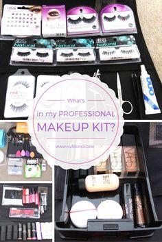In My Professional Makeup Kit? All the things a professional beginner makeup artist needs to start their kit. Makeup Artist Tips, Freelance Makeup Artist, Makeup Artistry, Beginner Makeup Kit, Makeup For Beginners, Mascara, Make Up Kits, Professional Makeup Kit, Contour Makeup