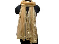 Golden scarf/ net scarf/ trendy scarf/ fashion scarf/ sequin scarf/ lace scarf/ gift scarf / gift ideas. by vibrantscarves on Etsy