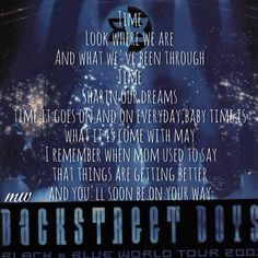 Time backstreet boys lyrics