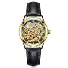 Luxury Brand Watches Women Automatic Mechanical Watches For Woman Golden Phoenix Mechanical Watch Waterproof  Relogio  Masculino