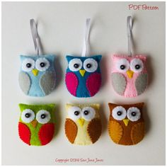 Owl Feltie PDF Sewing Pattern and Tutorial, Instant Download, Easy Step-by-Step Instructions