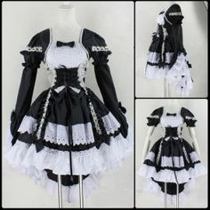 Black Lolita Maid Costume