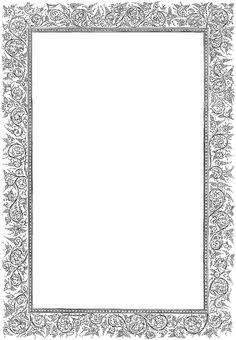 Light gray, ornate rectangular frame.