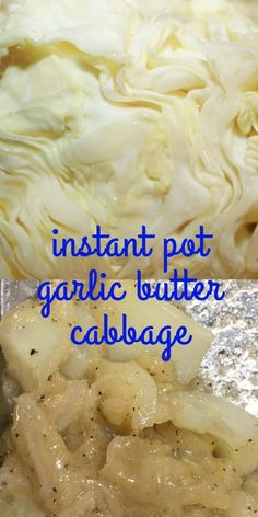Instant Pot Buttered Cabbage With Garlic (Includes Video) - Recipe Garden Vegetarian Side Dishes, Vegetarian Cabbage, Vegetable Side Dishes, Vegetarian Recipes, Butter Cabbage Recipe, Cabbage Recipes, Banana Dessert, Dessert Bread, Pressure Cooker Cabbage