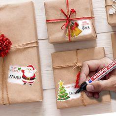 Pegatinas: Kit etiquetas Blanca Navidad Merry Christmas, Christmas Gifts, Christmas Decorations, Mars Project, Christmas Gift Wrapping, Kit, Wraps, Projects, Gift Ideas
