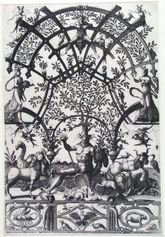 Aarde, Joannes van Doetecum (I), 1557   Museum Boijmans Van Beuningen