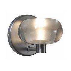 JESCO�4-1/2-in W Bubble 1-Light Satin Nickel Arm Wall Sconce