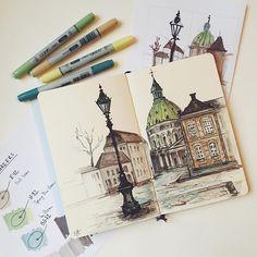Denmark, which. art in 2019 art sketchbook, gcse art sketchbook, art sketch City Drawing, Painting & Drawing, Art Sketches, Art Drawings, Moleskine Sketchbook, Sketchbooks, Art Tumblr, Art Disney, House Sketch