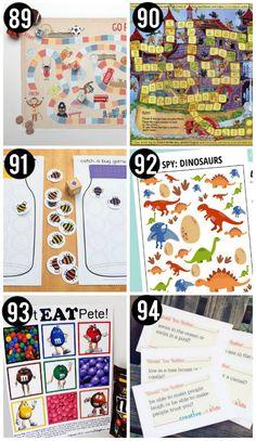 Free Printable Kid Games