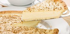 Milk tart is such a classic South African dessert that it even has it's own special day on the calendar – 27 February is known as National Milk Tart Day Tart Recipes, Sweet Recipes, Dessert Recipes, Cooking Recipes, Custard Recipes, Fondue Recipes, Condensed Milk Desserts, Recipes With Condensed Milk, Condensed Milk Cookies