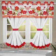Crochet Decoracion Cortinas New Ideas Cute Curtains, Elegant Curtains, Crochet Curtains, Beautiful Curtains, Drapes Curtains, Valance, Kitchen Curtain Designs, Window Curtain Designs, Curtain Patterns