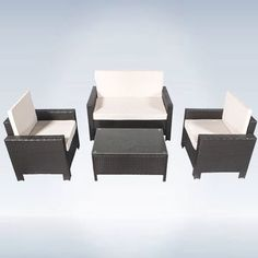 This Wicker Garden Furniture is a luxurious image for your patio is just a matter of combining the right furniture.  You won't find a better double sofa, two individual sofas, and a coffee table collectively for this rate. #ebay #Garden #Ideas #Patio #Set #Outdoor #Modern #Idea #Seat #Table #Sofa #Chair #Rattan #Wicker #Furniture