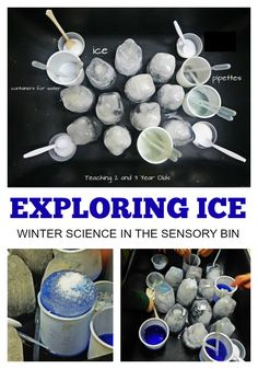 Preschoolers love to see what happens when ice melts, especially when they can use salt and warm water.