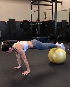 """Friday Core 30 seconds each side 15 each side 15 reps each each side Butt Workout, Gym Workouts, At Home Workouts, Ball Workouts, Stability Ball Exercises, Thigh Exercises, Core Stability, Clarks, Alexia Clark"