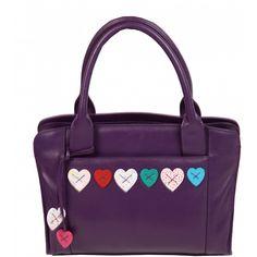 Mala Leather Lucy Grab Bag / Leather Handbag £80.00 available from www.kubi.co.uk #lucy #handbag #handbags #leatherhandbag #leatherhandbags #bag #bags #leatherbag #leatherbags #heart #hearts #grabbag #leathergrabbag #malaleather #aw13 #2013 #fashion #travel #work #office #ladies #purple #workbag #workbags #leatherworkbag