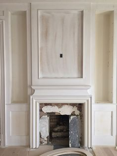 Well.....well....well! Somebody is actually reading my blog! You guys were commenting like it was 2014:) I am so proud of this... Fireplace Remodel, Fireplace Mantles, Fireplace Ideas, Architecture Details, Interior Architecture, Direct Vent Gas Fireplace, Keeping Room, Living Room Remodel, Dining Room Design