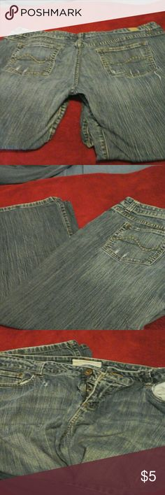 Maurice's brand jeans Size 18 short boot cut. Bough with the distressing done already. Jeans Boot Cut