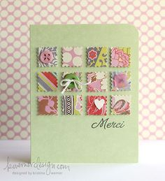 Could use fabric squares or paper