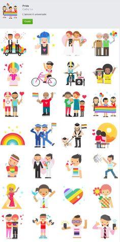 Pride le emoji di FB