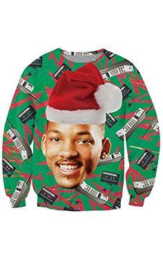 KSJK Unisex Funny Print Ugly Christmas Sweater Jumper 011XXXL ❤ ...