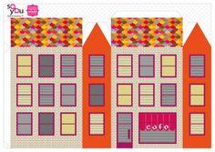 #Paper #Toy #House par Solange ABAZIOU pour Le Quai Angers - Paper House – Maison de papier – Modèle 3 - http://soyou.fr/