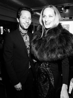 Derek Blasberg & Lauren Santo Domingo in Louis Vuitton at Sidaction 2014 dinner