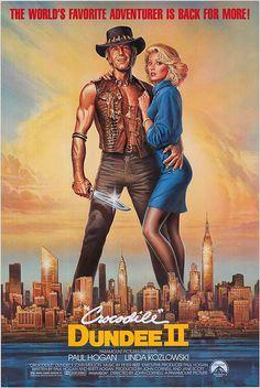 Crocodile Dundee II Movie Poster ( of 80s Movie Posters, 80s Movies, Cinema Posters, Movie Poster Art, Comedy Movies, Film Movie, Movies To Watch, Good Movies, Crocodile Dundee