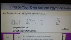 My Egyptian name