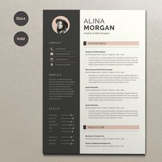 Resume Alina by Estartshop on @creativemarket