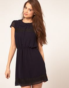 Skater Dress With Lace Detail