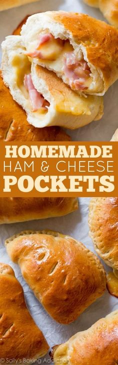 Homemade Ham & Cheese Pockets - Make freezer-friendly homemade ham and cheese pockets with this easy recipe! Quick to reheat on the go!