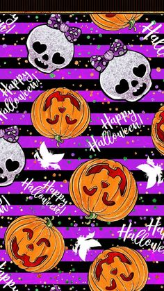 Halloween Wallpaper Cute, Holiday Wallpaper, Halloween Backgrounds, Fall Wallpaper, My First Halloween, Purple Halloween, Spooky Halloween, Halloween Crafts, Happy Halloween