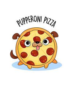 "'Pupperoni Pizza Animal Pun' Sticker by punnybone ""Pupperoni Pizza Animal Pun"" by punnybone"