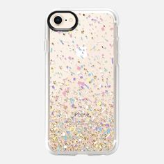 da27f839a1 Casetify iPhone 8 Case - Gold Multicolor Pastel Confetti Transparent by  Organic Saturation