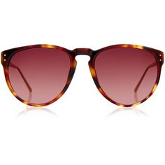 Linda Farrow Luxe Tortoiseshell and Rose Gold-Plated Oversized Cat-Eye... (14.390 RUB) ❤ liked on Polyvore featuring accessories, eyewear, sunglasses, brown, tortoise sunglasses, brown sunglasses, uv protection sunglasses, brown oversized sunglasses and tortoiseshell cat eye sunglasses