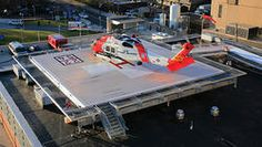 Pre-fabricated Helipad New Generation Pre-fabricated Helipad : Our primary product, the light-weight helipad, is as strong as concrete http://goo.gl/vuThbc