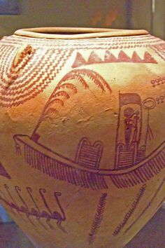 Large jar with Boat Processions and Animals in Landscape Naqada II (3650-3300 BCE) pottery predynastic Egypt (2)