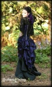 Victorian Bustle Lace Over skirt - back