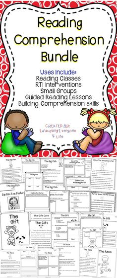 Reading Comprehension Bundle - This reading comprehension bundle will be a great addition to the classroom.  This bundle includes no-prep comprehension activities to hep students develop their reading skills! #education