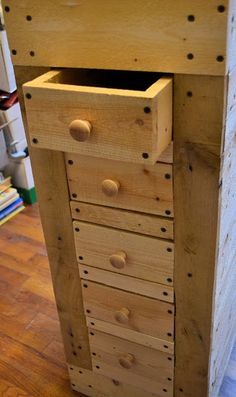 Remodelaholic | How To Make A Rustic Pallet Cabinet