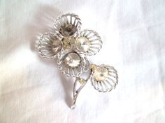 Vintage Silver Floral Brooch by jclairep on Etsy, $8.00