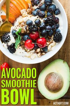 Avocado Smoothie Recipe. This healthy breakfast smoothie is balanced, like a meal, with an ideal ratio of carbs, protein, fat. Get quick and easy recipes for weight loss smoothies: http://www.actabit.com/how-to-make-healthy-smoothies-and-shakes-for-weight-loss/
