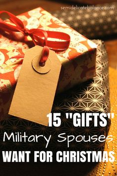 """You already know the """"gifts"""" that new moms want for Christmas. Here's a look at 20 """"gifts"""" Military Spouses Want for Christmas Christmas Gifts For Girlfriend, Christmas Gifts For Her, Gifts For Husband, Christmas Holiday, Christmas Decor, Christmas Ideas, Military Gifts, Military Spouse, Military Girlfriend"""