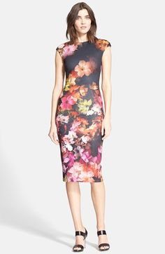 Ted Baker London 'Catina' Floral Print Body-Con Dress available at #Nordstrom