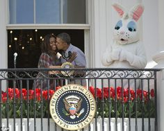 Barack and Michelle at Easter Egg Roll #DailyMail